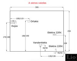 1. Virtuvės tinklų projektavimas iš šono
